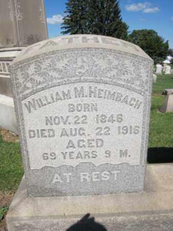 HEIMBACH, WILLIAM M. - Lehigh County, Pennsylvania | WILLIAM M. HEIMBACH - Pennsylvania Gravestone Photos