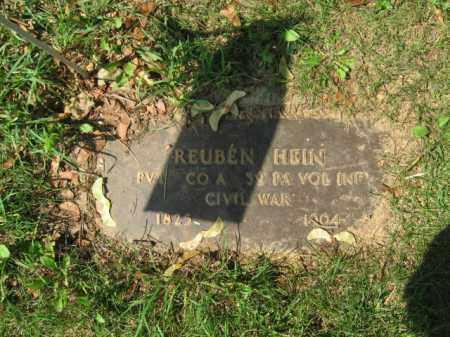 HEIN, REUBEN - Lehigh County, Pennsylvania | REUBEN HEIN - Pennsylvania Gravestone Photos