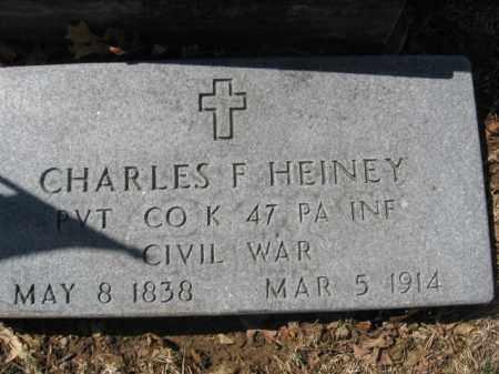 HEINEY  (CW), PVT.CHARLES F. - Lehigh County, Pennsylvania | PVT.CHARLES F. HEINEY  (CW) - Pennsylvania Gravestone Photos