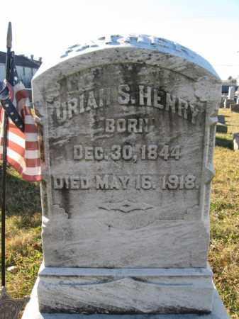 HENRY, PVT. URIAH S. - Lehigh County, Pennsylvania | PVT. URIAH S. HENRY - Pennsylvania Gravestone Photos