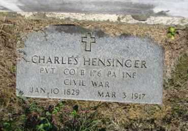 HENSINGER (CW), CHARLES - Lehigh County, Pennsylvania   CHARLES HENSINGER (CW) - Pennsylvania Gravestone Photos