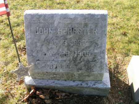 HERBSTER, PVT.JOHN - Lehigh County, Pennsylvania   PVT.JOHN HERBSTER - Pennsylvania Gravestone Photos