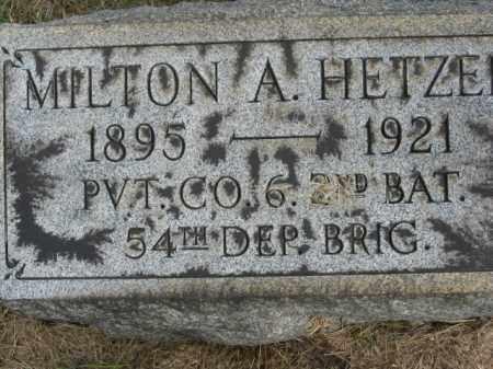 HETZE, MILTON A. - Lehigh County, Pennsylvania   MILTON A. HETZE - Pennsylvania Gravestone Photos
