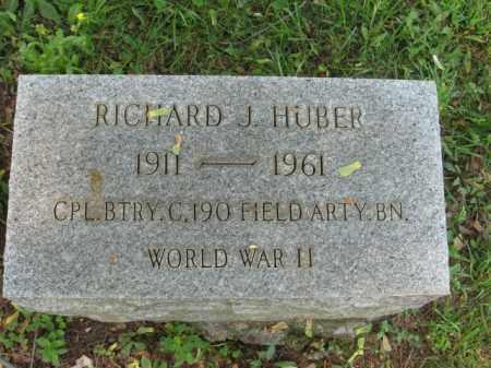 HUBER, RICHARD J. - Lehigh County, Pennsylvania | RICHARD J. HUBER - Pennsylvania Gravestone Photos