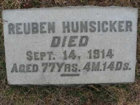 HUNSICKER (CW), CORP. REUBEN - Lehigh County, Pennsylvania | CORP. REUBEN HUNSICKER (CW) - Pennsylvania Gravestone Photos