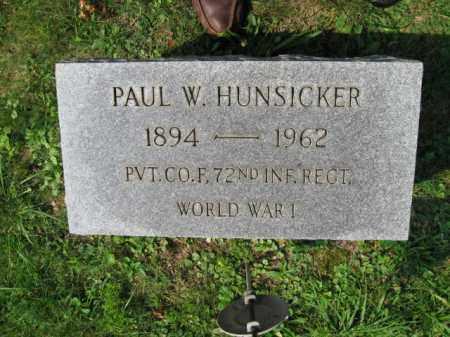 HUNSICKER, PAUL W. - Lehigh County, Pennsylvania | PAUL W. HUNSICKER - Pennsylvania Gravestone Photos