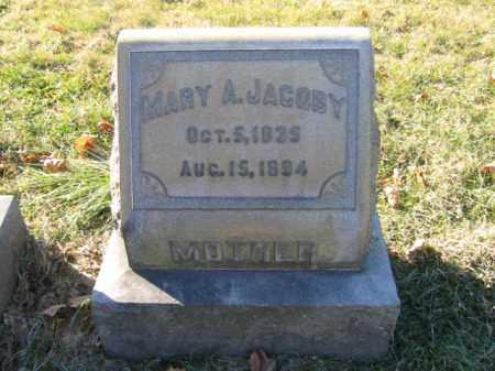 JACOBY, MARY A. - Lehigh County, Pennsylvania | MARY A. JACOBY - Pennsylvania Gravestone Photos