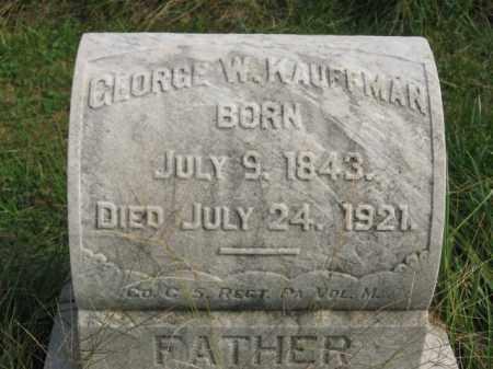 KAUFFMAN, GEORGE W. - Lehigh County, Pennsylvania | GEORGE W. KAUFFMAN - Pennsylvania Gravestone Photos