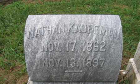 KAUFFMAN, NATHAN - Lehigh County, Pennsylvania   NATHAN KAUFFMAN - Pennsylvania Gravestone Photos