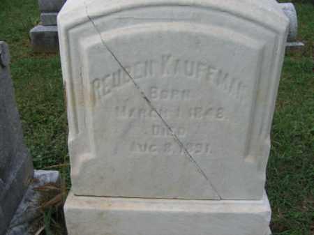 KAUFFMAN, REUBEN - Lehigh County, Pennsylvania   REUBEN KAUFFMAN - Pennsylvania Gravestone Photos