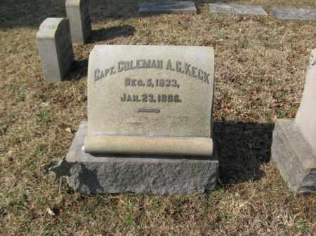 KECK   (CW), CAPT.COLEMAN A.G. - Lehigh County, Pennsylvania | CAPT.COLEMAN A.G. KECK   (CW) - Pennsylvania Gravestone Photos