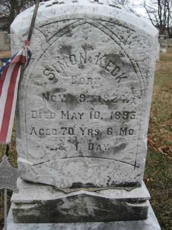 KECK   (CW), PVT.SIMON - Lehigh County, Pennsylvania | PVT.SIMON KECK   (CW) - Pennsylvania Gravestone Photos