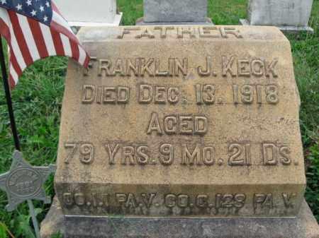 KECK, FRANKLIN J. - Lehigh County, Pennsylvania | FRANKLIN J. KECK - Pennsylvania Gravestone Photos