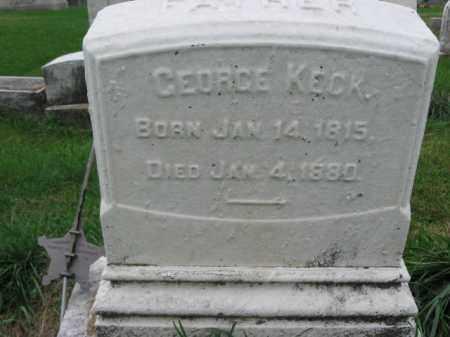 KECK, GEORGE - Lehigh County, Pennsylvania   GEORGE KECK - Pennsylvania Gravestone Photos