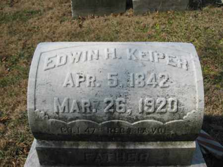 KEIPER   (CW), PVT. EDWIN H. - Lehigh County, Pennsylvania   PVT. EDWIN H. KEIPER   (CW) - Pennsylvania Gravestone Photos