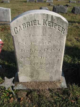 KEIPER, PVT. GABRIEL - Lehigh County, Pennsylvania   PVT. GABRIEL KEIPER - Pennsylvania Gravestone Photos