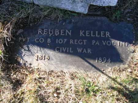 KELLER, PVT. REUBEN - Lehigh County, Pennsylvania   PVT. REUBEN KELLER - Pennsylvania Gravestone Photos
