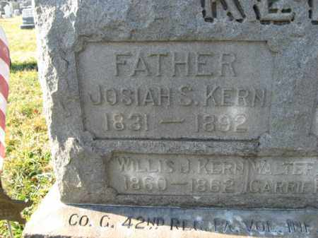 KERN, PVT. JOSIAH S. - Lehigh County, Pennsylvania   PVT. JOSIAH S. KERN - Pennsylvania Gravestone Photos