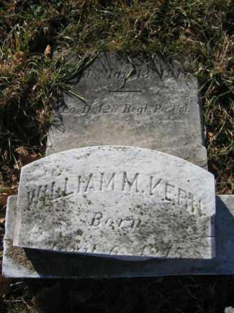 KERN, PVT. WILLIAM M. - Lehigh County, Pennsylvania | PVT. WILLIAM M. KERN - Pennsylvania Gravestone Photos