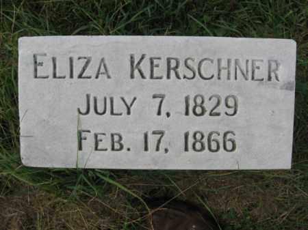 KERSCHNER, ELIZA - Lehigh County, Pennsylvania | ELIZA KERSCHNER - Pennsylvania Gravestone Photos