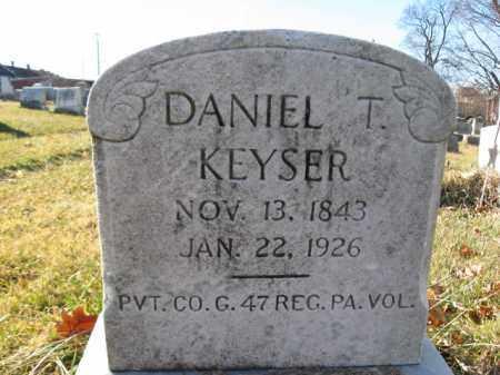 KEYSER, PVT. DANIEL T. - Lehigh County, Pennsylvania | PVT. DANIEL T. KEYSER - Pennsylvania Gravestone Photos