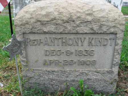 KINDT, REV.ANTHONY - Lehigh County, Pennsylvania   REV.ANTHONY KINDT - Pennsylvania Gravestone Photos
