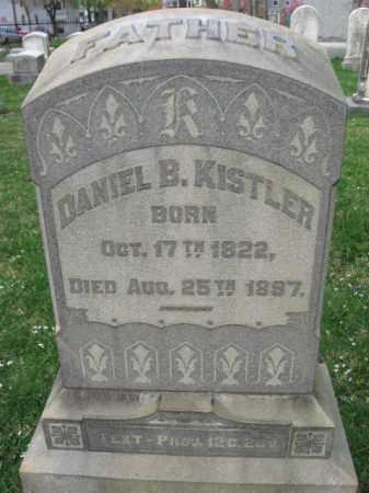 KISTLER, DANIEL B. - Lehigh County, Pennsylvania   DANIEL B. KISTLER - Pennsylvania Gravestone Photos