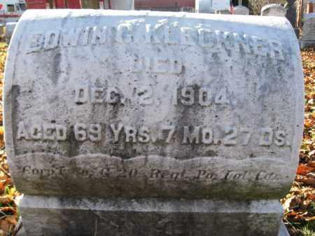 KLECKNER, CORP. EDWIN C. - Lehigh County, Pennsylvania   CORP. EDWIN C. KLECKNER - Pennsylvania Gravestone Photos