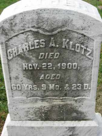 KLOTZ, CHARLES A. - Lehigh County, Pennsylvania   CHARLES A. KLOTZ - Pennsylvania Gravestone Photos