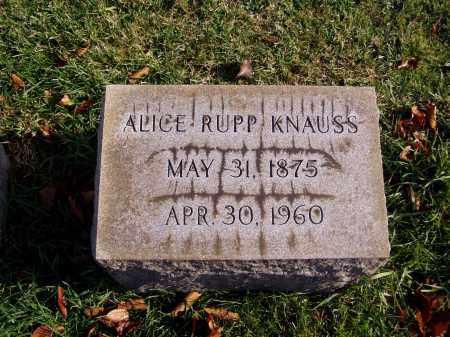 RUPP KNAUSS, ALICE LUCY - Lehigh County, Pennsylvania | ALICE LUCY RUPP KNAUSS - Pennsylvania Gravestone Photos