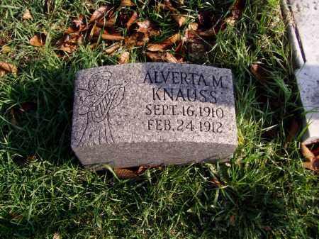 KNAUSS, ALVERTA MARGARET - Lehigh County, Pennsylvania | ALVERTA MARGARET KNAUSS - Pennsylvania Gravestone Photos