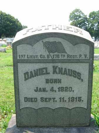 KNAUSS, DANIEL - Lehigh County, Pennsylvania | DANIEL KNAUSS - Pennsylvania Gravestone Photos