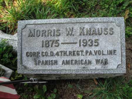 KNAUSS, MORRIS W. - Lehigh County, Pennsylvania   MORRIS W. KNAUSS - Pennsylvania Gravestone Photos