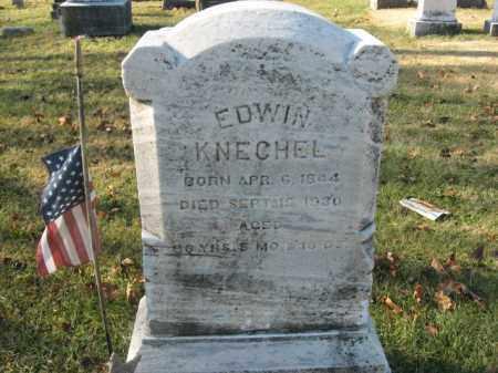 KNECHEL, PVT. EDWIN - Lehigh County, Pennsylvania | PVT. EDWIN KNECHEL - Pennsylvania Gravestone Photos