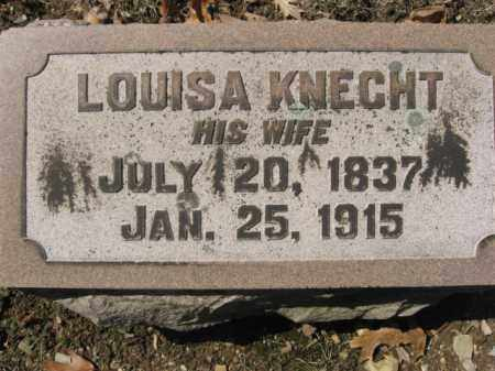 KNECHT, LOUISA - Lehigh County, Pennsylvania | LOUISA KNECHT - Pennsylvania Gravestone Photos