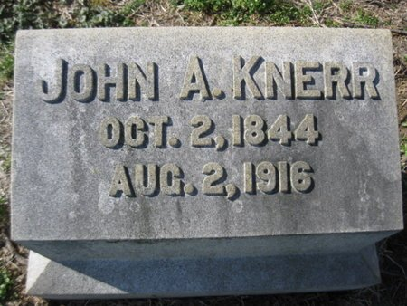 KNERR (CW), JOHN A. - Lehigh County, Pennsylvania | JOHN A. KNERR (CW) - Pennsylvania Gravestone Photos