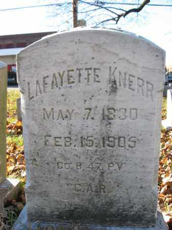 KNERR (CW), PVT. LAFAYETTE - Lehigh County, Pennsylvania | PVT. LAFAYETTE KNERR (CW) - Pennsylvania Gravestone Photos