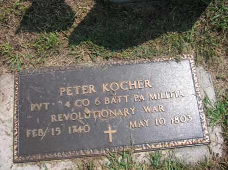 KOCHER, PETER - Lehigh County, Pennsylvania | PETER KOCHER - Pennsylvania Gravestone Photos