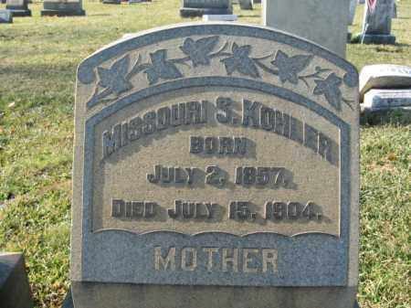 KOHLER, MISSOURI S. - Lehigh County, Pennsylvania | MISSOURI S. KOHLER - Pennsylvania Gravestone Photos