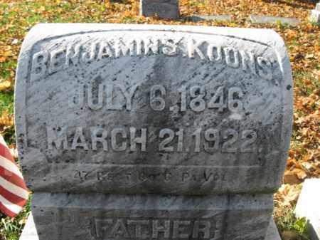 KOONS, PVT. BENJAMIN S. - Lehigh County, Pennsylvania | PVT. BENJAMIN S. KOONS - Pennsylvania Gravestone Photos