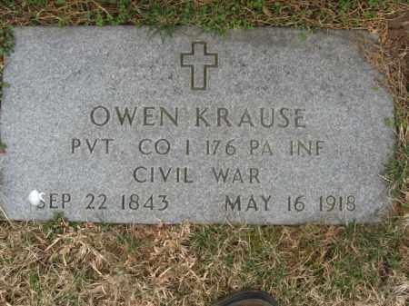 KRAUSE  (CW), OWEN - Lehigh County, Pennsylvania | OWEN KRAUSE  (CW) - Pennsylvania Gravestone Photos