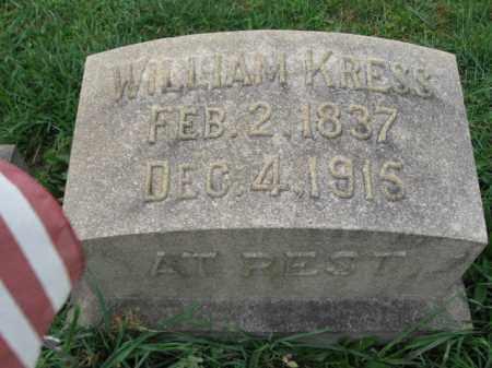 KRESS, WILLIAM - Lehigh County, Pennsylvania   WILLIAM KRESS - Pennsylvania Gravestone Photos