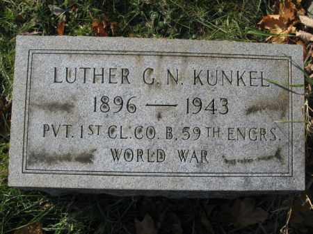 KUNKEL, LUTHER G.N. - Lehigh County, Pennsylvania | LUTHER G.N. KUNKEL - Pennsylvania Gravestone Photos
