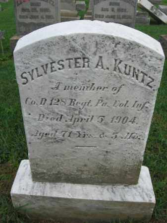 KUNTZ, CORP.SYLVESTER A. - Lehigh County, Pennsylvania | CORP.SYLVESTER A. KUNTZ - Pennsylvania Gravestone Photos