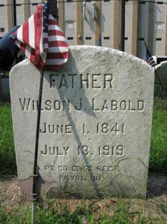 LABOLD, PVT. WILSON J. - Lehigh County, Pennsylvania   PVT. WILSON J. LABOLD - Pennsylvania Gravestone Photos