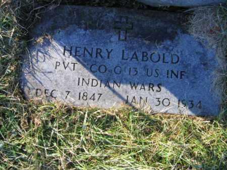 LABOLD, PVT. HENRY - Lehigh County, Pennsylvania   PVT. HENRY LABOLD - Pennsylvania Gravestone Photos