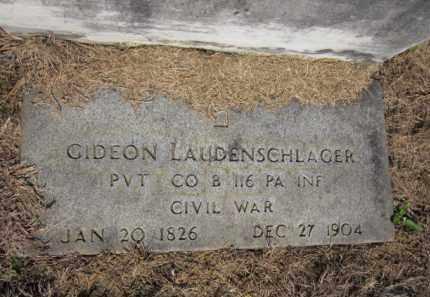 LAUDENSCHLAGER (CW), GIDEON - Lehigh County, Pennsylvania | GIDEON LAUDENSCHLAGER (CW) - Pennsylvania Gravestone Photos