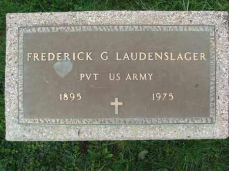 LAUDENSLAGER (WW I), FREDERICK G. - Lehigh County, Pennsylvania | FREDERICK G. LAUDENSLAGER (WW I) - Pennsylvania Gravestone Photos