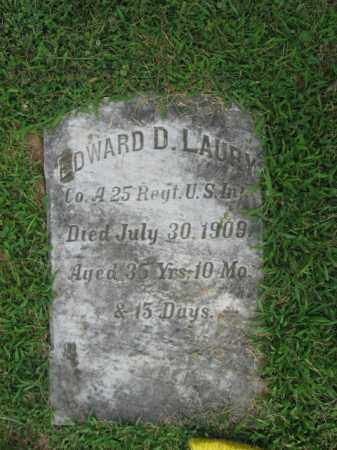 LAURY  (SAW), EDWARD D. - Lehigh County, Pennsylvania | EDWARD D. LAURY  (SAW) - Pennsylvania Gravestone Photos