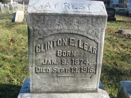 LEAR, CLINTON E. - Lehigh County, Pennsylvania   CLINTON E. LEAR - Pennsylvania Gravestone Photos